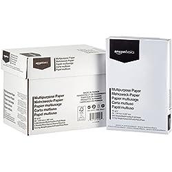AmazonBasics Papier multiusage A4 80gsm, 5x500 feuilles, blanc