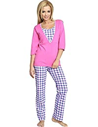 Be Mammy Mujer Lactancia Pijamas Dos Piezas V2R4N381