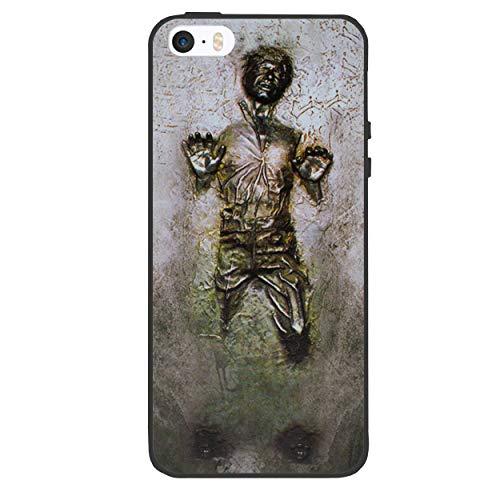 I-CHOOSE LIMITED Star Wars Case Handyhülle für Apple iPhone 5s 5 SE mit Schirmschutz/Gel/TPU/Hans Solo - Carbonit