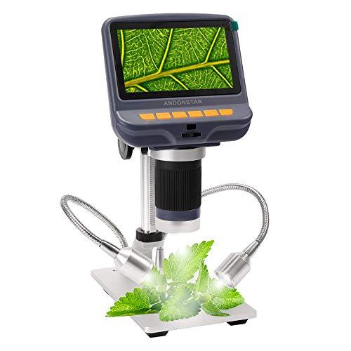 KKmoon 4.3 Pollici Display Digitale Professionale 1080p Microscopio Elettronico Magnifier per La Riparazione di Gioielli Riparazione Saldatura Telefono Cellulare