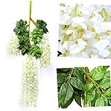 #8: Banggood 12x Artificial Silk Wisteria Hanging Flower Vine Wedding Garden Decor 110cm