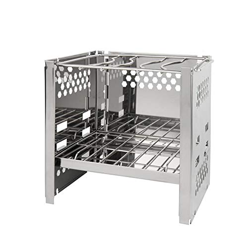 WYX Grill Grill Tragbare, Mini BBQ Rack Haushaltskohle Edelstahl Grill Herd Outdoor Tragbare Falten Feld Carbon Gegrillte Familie Party - Tragbare Heizung Matte