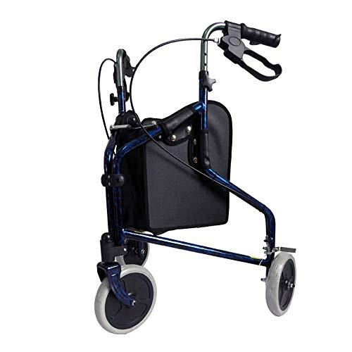 Ultraleichter 3-Rad-Rollator/Tri-Walker mit Bremsen und Einkaufstasche -