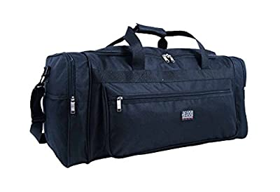 Holdalls Large Extra Large Size - Weekend or Very Big Overnight Bag - Ideal Travel Holdall - Plain Black Duffle Bags - Multiple Pockets - 65 Litre Capacity 1kg - Measurements 66 x 31 x 31cm - RL58M
