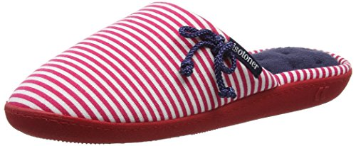 isotoner-women-red-white-mule-open-back-slippers-multicolour-navy-pink-7-uk-40-eu
