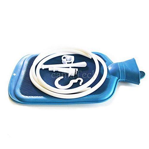 DACHUI 2000 ML/2 L Mehrweg Klistier Beutel Kit für die Darmreinigung große Wärmflasche Analdusche Reiniger mit 2 Quart Sex Spielzeug Blau