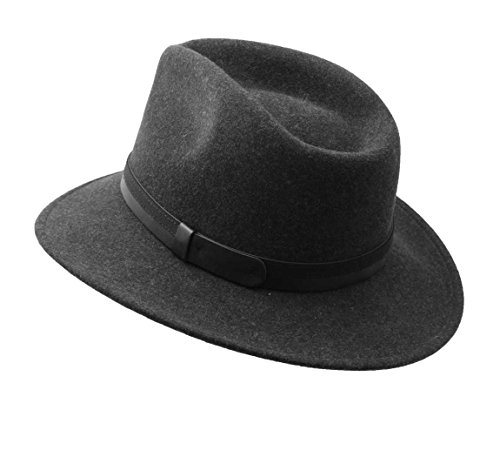 Classic Italy - Chapeau fedora feutre homme Classic Traveller III Anthracite