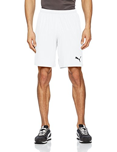 PUMA Herren Liga Shorts Core with Brief Hose, White Black, M (Fit-yoga-hosen Relaxed)