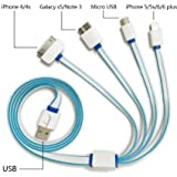 DEEP GLOBAL Data Cable/Charging Cable/Multi Connector Cable COMPATIBLE with HCL ME Tablet Y3 - Random Color