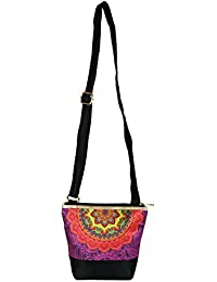 The Great Indian Mela Purple Pattern Messenger Sling Bag