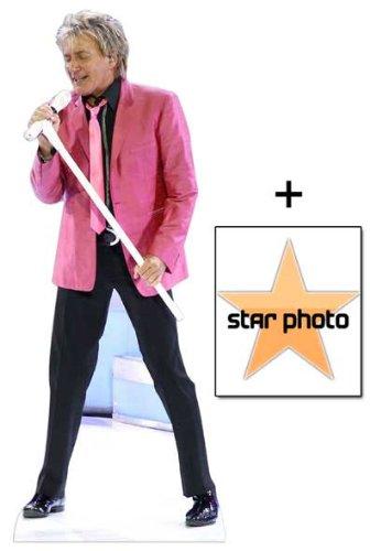 *Fanbündel* - Rod Stewart Lebensgrosse Pappfiguren / Stehplatzinhaber / Aufsteller - Enthält 8X10 (25X20Cm) starfoto - Fanbündel #343 -