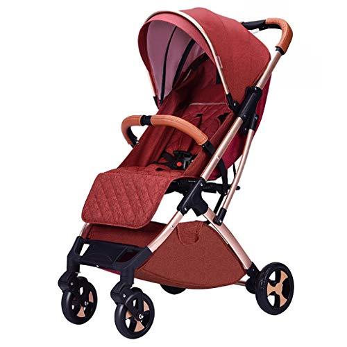 Gute Qualität Kinderwagen Buggys Kinderwagen Licht kann Klapp Kinderwagen Regenschirm Vier Rad Trolley liegend Faltbare tragbare sitzen Baby Standardkinderwagen