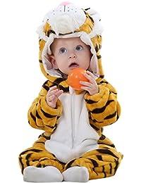 Happy Cherry - Bébé Unisexe Combinaison Pyjama - Bébé Hiver Chaud Romper Cartoon - Costume Soirée de Déguisement - Tigre
