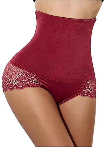 Semir intimo modellante da donna guaina contenitiva a vita alta dimagrante pancera mutanda contenitiva fascia elastica shapewear da donna vino rosso xl