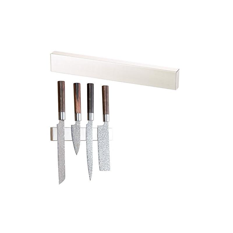 Rosenstein Shne Magnet Schiene Messer Durchgehende Magnet Messerleiste Aus Gebrstetem Edelstahl 36 Cm Design Magnetleiste