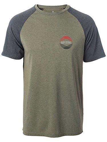 Herren T-Shirt Rip Curl Big Mama Raglan Vc T-Shirt Dusty Olive