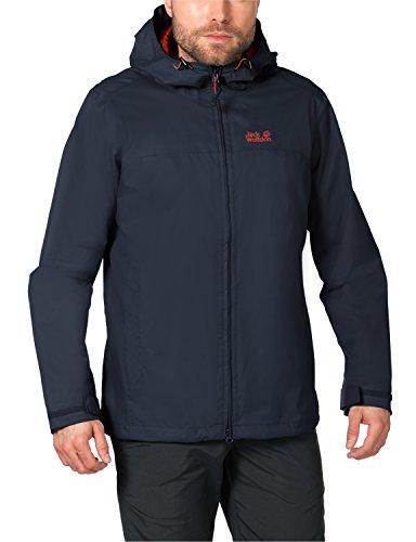 Jack Wolfskin Herren Wetterschutzjacke Arroyo Jacket, Night Blue, XL