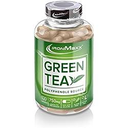 IronMaxx Green Tea | Grüntee-Extrakt in Kapseln | 1 x 130 Kapseln (115,4g)