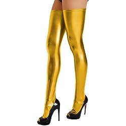 etrado fashion - Medias autoadhesivas - para mujer dorado dorado