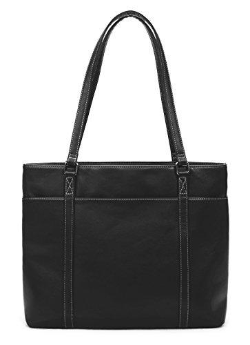 overbrooke Classic Laptop Tasche–Vegan Leder Damen Schultertasche für Laptops bis 39,6cm schwarz schwarz L - Spade Kate Notebook-tasche