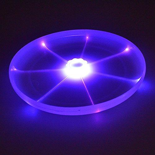owikar Flying Disc LED Taschenlampe Magic Fliegende Untertasse UFO Neuheit Flying Festplatten Werfen Toys Schwebe Frisbee für Hunde
