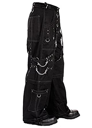 Dead Threads Elite Grey Thread Gothic Metal Punk Men's Baggy Trousers Pants Black S