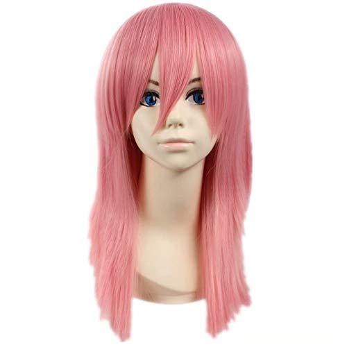 Beast Mädchen Boy Kostüm - COSPLAZA Cosplay Perücke Nette Rosa Natürliche Gerade Schulterlange Perücke mit Ponyfrisur Kostüm Spielen Party Haar für Mädchen