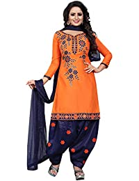 9596cadfe3 Amazon.in  Oranges - Dress Material   Ethnic Wear  Clothing ...