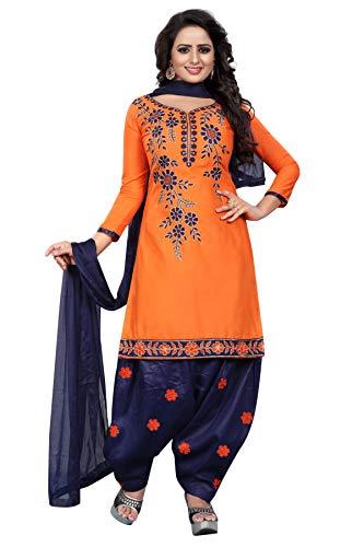 AKLPANIY Women\'s Cotton Silk Embroidery Salwar Suit Dupaatta (Unstitched Dress Material)