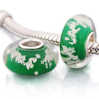 Andante-Stones 925 Sterling Silber Murano Glas Bead Charm