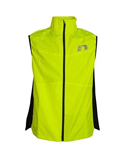 Newline Visio Vest giacca senza maniche uomo da corsa in tessuto leggero con fronte e retro catarifrangenti (XL)