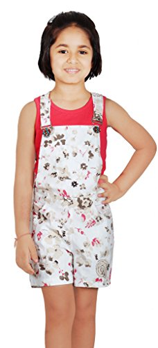 35dcf3658 Naughty Niños Girls  Cotton Floral Printed Dungaree Shorts and Tee ...