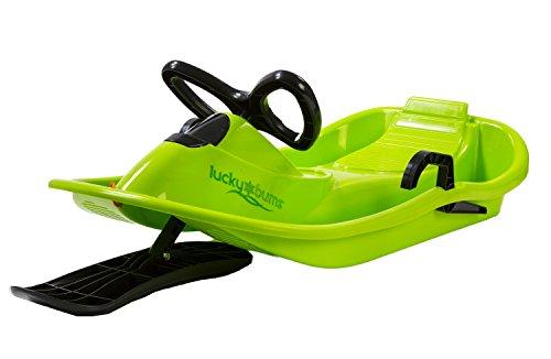 Lucky Bums Bambini Bambini neve plastica Racer sledge-blue/Giallo, Taglia unica, Bambino, Snow, Green/Black, Taglia unica
