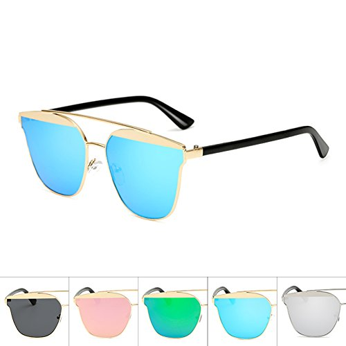 Goolife Mode Retro Aviator Transparent Coloful Objektiv Spiegel Sonnenbrille Designer Brillen...