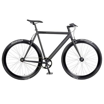 bonvelo Singlespeed Fixie Fahrrad Blizz Back to Black (Medium / 53cm für Körpergrößen von 162cm bis 171cm)