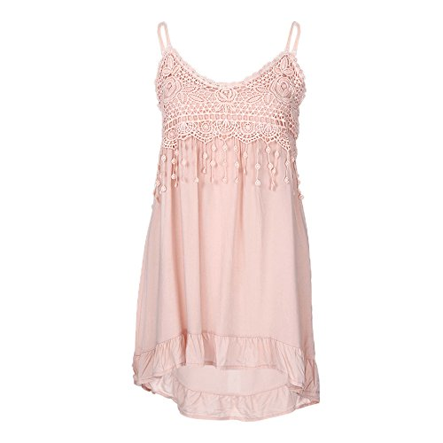 Kobay Women Tassels Tank Tops, Ladies' Sleeveless Sexy Vest Summer Cotton Tops T-Shirt Blouse Fashion