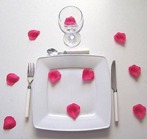 mondial-fete-100-petales-de-rose-en-tissu-fushia-5-cm