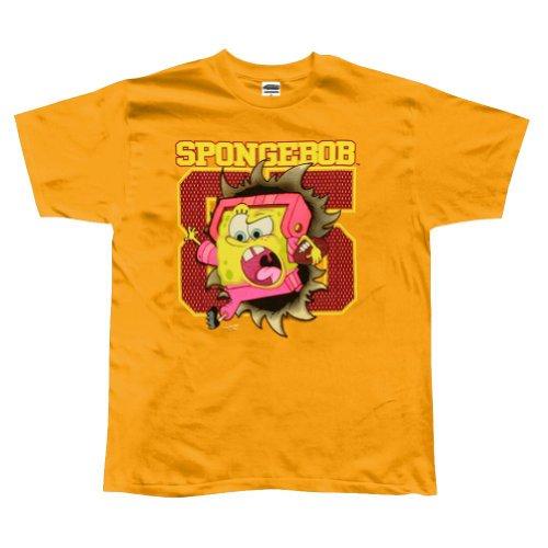Old Glory Spongebob Schwammkopf–Touchdown Youth Jungen T-Shirt, Gelb, 052787 CT TS LG (Spongebob Schwammkopf-kleidung)
