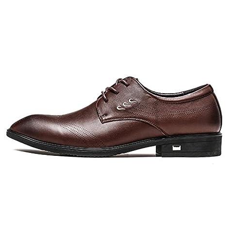 FADACAI Herrenlederschuhe Arbeitsplatzschuhe Hochzeit Schuhe Abendschuhe Kortex 98186FD , brown , 38