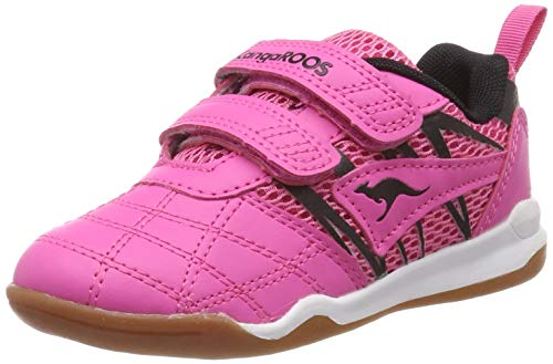 KangaROOS Court Comb V, Chaussures Multisport Indoor Mixte Enfant, (Daisy Pink/Jet Black 6122), 28 EU