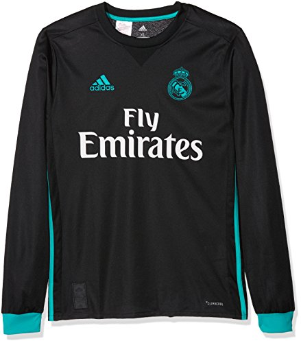2017-2018 Real Madrid Adidas Away Long Sleeve Shirt (Kids) -