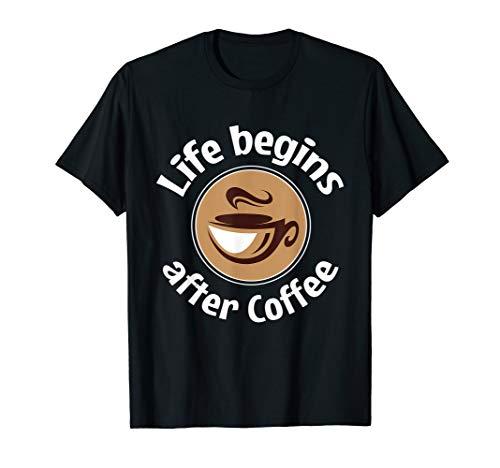Getränk Kaffee Wach Bohne Frühstück T-Shirt Koffein Cappucc (Wach Schokolade)