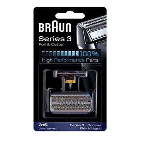 Braun Scherblatt Series 3/31S Contour/ Flex Integral/31S Series 5000 für Rasierer Series 390CC, 380, 370, Contour, Flex Integral