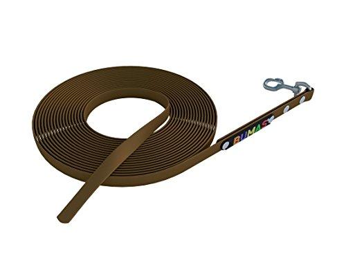 BUMAS - sport - Schleppleine aus BioThane® in braun 5 m
