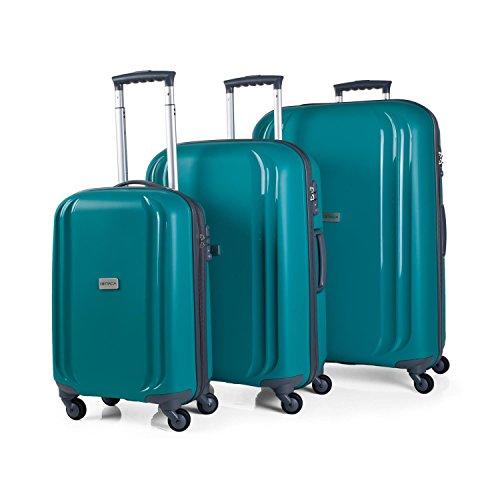 Set 3 trolleys Polipropileno con TSA - Verde