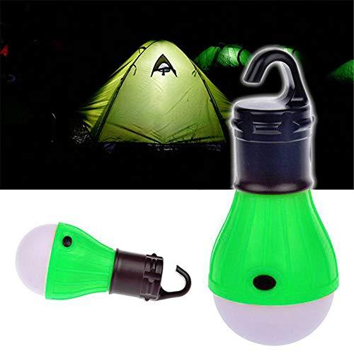 PDDXBB 1 Stück Mini Nacht Camping Outdoor Zelt Led Birne Wasserdicht Anhänger Hängen Rettungslampe Für Camping Oder Angeln Grün 12 * 5,3 cm