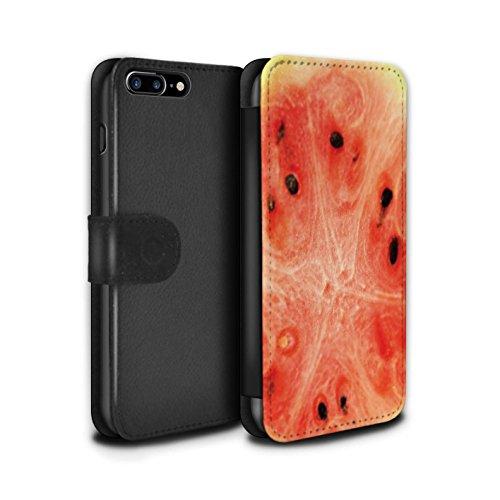 Stuff4 Coque/Etui/Housse Cuir PU Case/Cover pour Apple iPhone 7 Plus / Ananas Design / Fruits Collection Melon d'eau