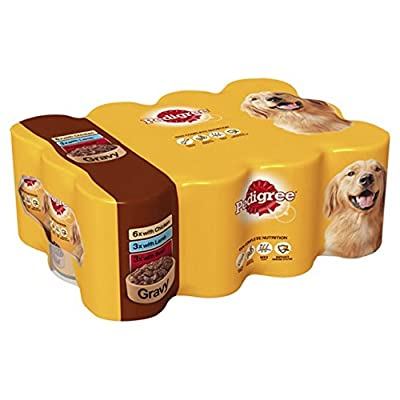 Pedigree Dog Tins Mixed Meat Selection in Gravy, 12 x 400 g