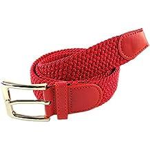 MYB Cinturón elástico trenzado para hombres y mujeres - múltiples ... 9efffda2d767