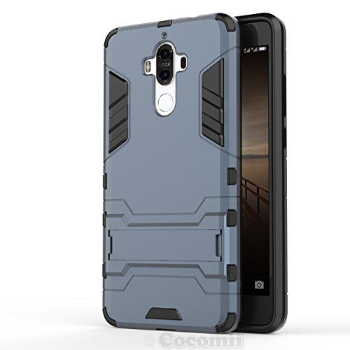 Huawei Mate 9 Funda, Cocomii Iron Man Armor NEW [Heavy Duty] Premium Tactical Grip Kickstand Shockproof Hard Bumper Shell [Military Defender] Full Body Dual Layer Rugged Cover Case Carcasa MHA-L09 L29 (Black)